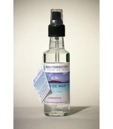Agua de mar ultra-filtrada hipertónica (spray botella de cristal) 100 ml (IBIZA Y FORMENTERA AGUA DE MAR)