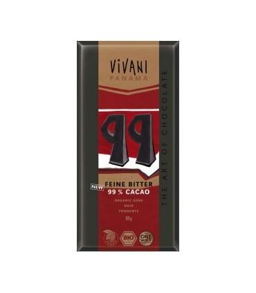 tableta chocolate negro 99% eco con azúcar de coco-80 g (VIVANI)