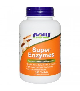 Super enzymes-180 tabletas (NOW FOODS)