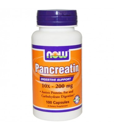 Pancreatina 10x 200 mg-100 cápsulas (NOW)