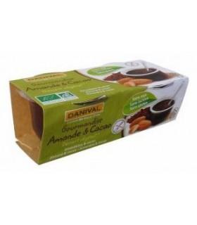 Postre de almendra y cacao bio-2x110 g (DANIVAL)