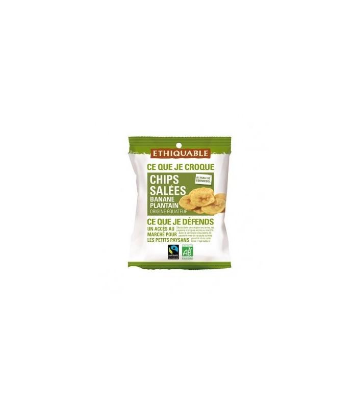 Chips de plátano frito con sal bio-85g (ETHIQUABLE)