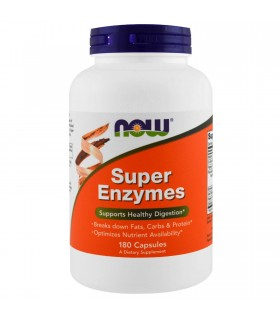 Super enzymes-180 cápsulas (NOW FOODS)
