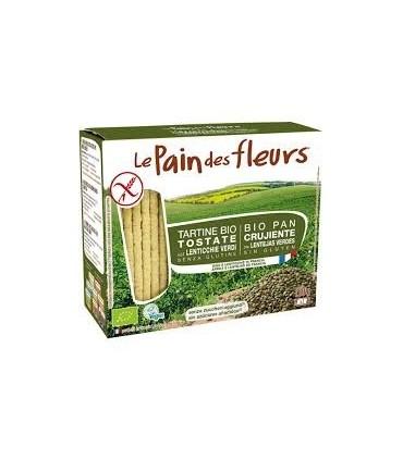 Pan de flores con  lentejas verdes sin gluten 150g (LE PAIN DES FLEURS)