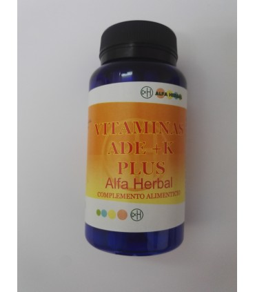 Vitaminas ADE+K plus 60 cápsuals  (ALFA HERBAL)