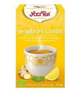 Infusión BIO Jengibre y limón 17 bolsitas (YOGI-TEA)