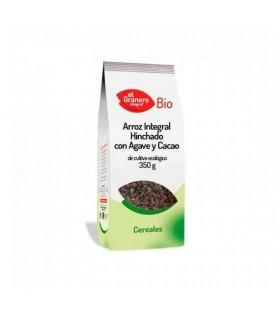 Arroz integral hinchado bio con ágave y cacao - 350 g (EL GRANERO)
