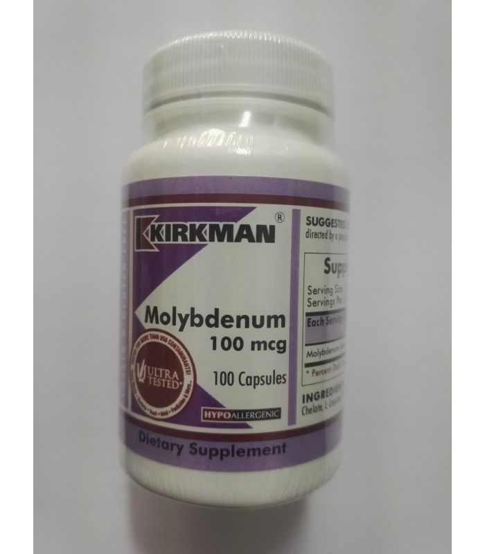 molibdeno 100 mcg-100 capsulas (KIRKMAN)