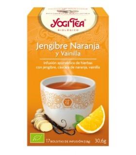 Infusión jengibre naranja y vainilla BIO (YOGI TEA)