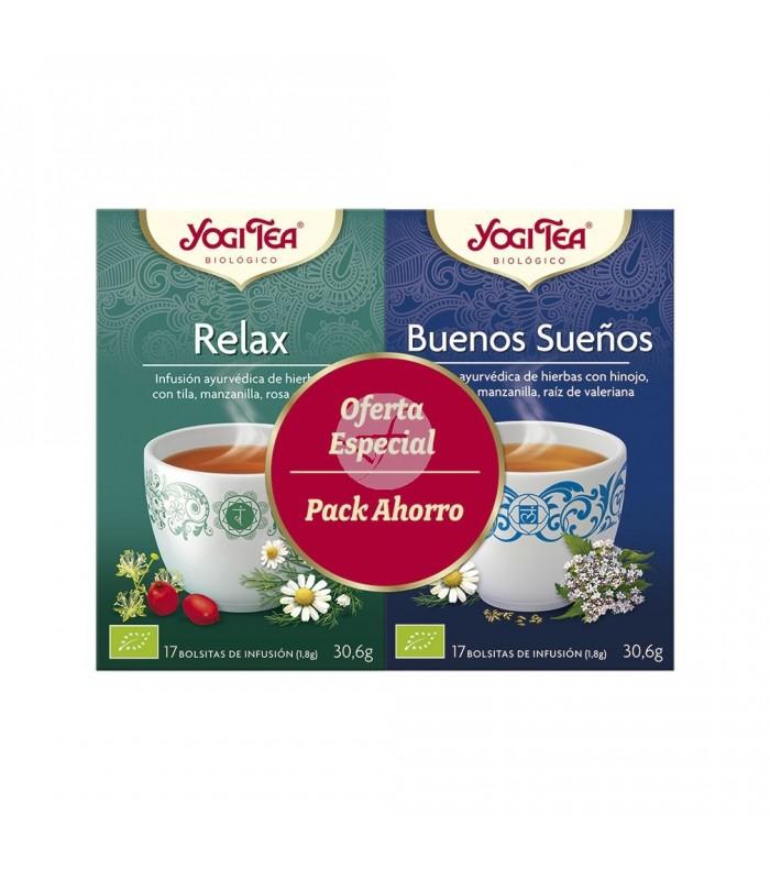 Infusión pack Relax + Buenos Sueños, 34 bolsitas (YOGI TEA)