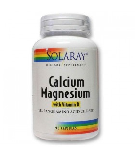 Calcium and Magnesium-90 cáps. veget (SOLARAY)
