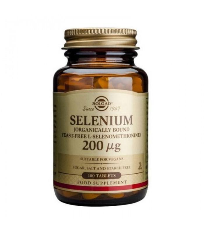 Selenio 200 mg sin levadura -100 compr. (SOLGAR)