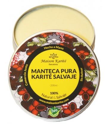 Manteca pura Karité Salvaje Natural-200ml  (MAISON KARITÉ)