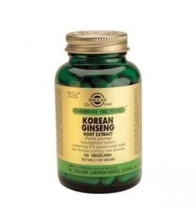 Ginseng coreano-raiz 60 veg (panax ginseng) (SOLGAR)