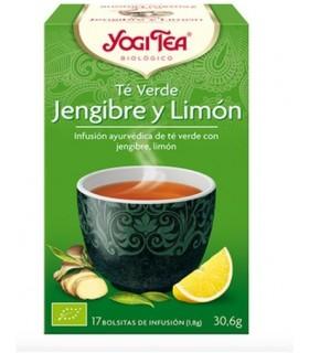 Té verde Jengibre y Limón BIO, 17 bolsitas (YOGI TEA)