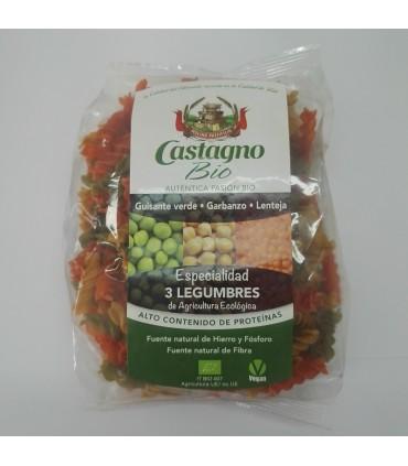 Espirales 3 legumbres 100% eco-250 g (CASTAGNO)