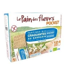 Pan de flores trigo sarraceno sin sal bio-220 g (LE PAIN DE FLEURS)