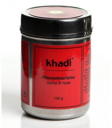 Tinte bio Herbal color rojo Caoba-Henna 150gr. (KHADI)