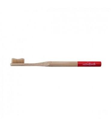 Cepillo de dientes de Bambú adulto rojo  (NATURBRUSH)