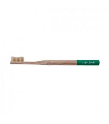 Cepillo de dientes de Bambú adulto verde  (NATURBRUSH)