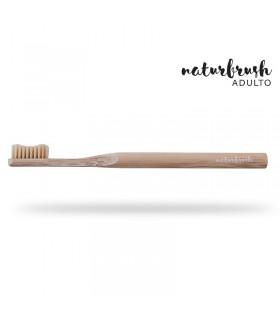 Cepillo de dientes de Bambú adulto madera  (NATURBRUSH)