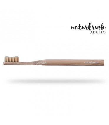 Cepillo de dientes de Bambú adulto azul  (NATURBRUSH)