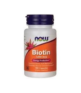 Biotina 1000 mcg-100 cápsulas (NOW)