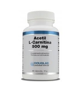 Acetil L-Carnitina 500mg - 60 cápsulas (DOUGLAS)