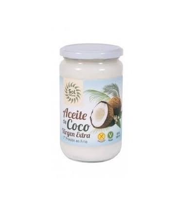 Aceite virgen extra de coco  Bio  -580 gr. (SOL NATURAL)