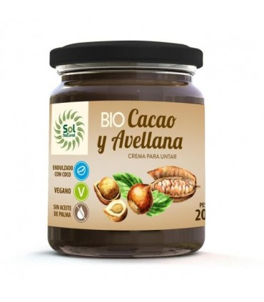 Crema de avellanas con cacao-200 ml (SOL NATURAL)