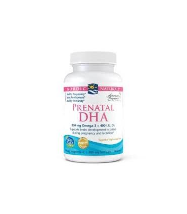 DHA prenatal 830mg omega 3 + 400 IU D3 - 90 cap. (NORDIC NATURALS)