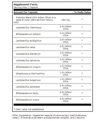 Ther-Biotic Complete 25 bill. CFUs-60 cápsulas (KLAIRE LABS)