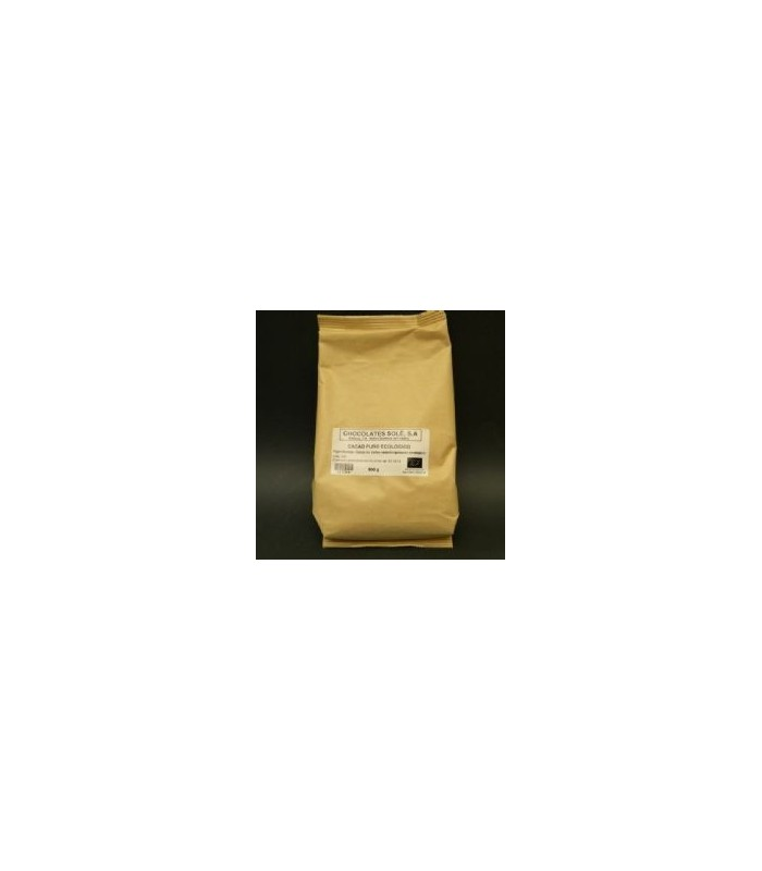 Cacao puro ecológico-500 g (CHOCOLATES SOLE)
