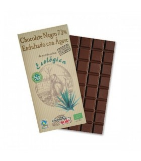 Tableta chocolate negro eco 73% ágave-100 g (CHOCOLATES SOLÉ)