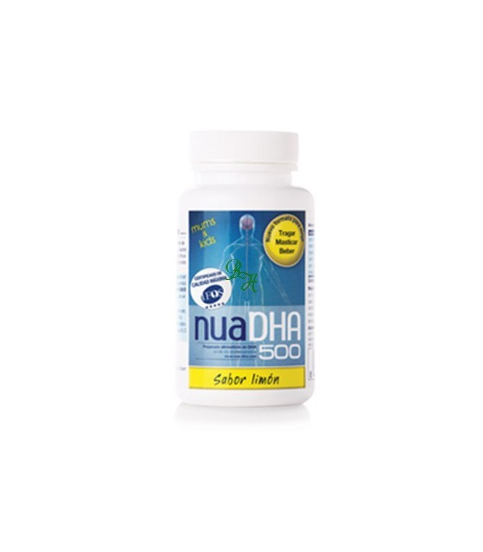 nuaDHA 500 sabor limón-30 cápsulas (NUA BIOLOGICAL INNOVATIONS SL)