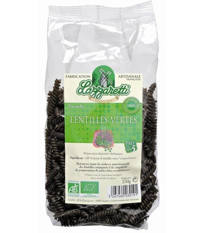 Espirales de lentejas verdes  - 250 g (LAZZARETTI)