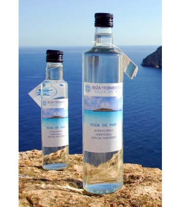 Agua de mar ultra-filtrada hipertónica botella de cristal-250 ml (IBIZA Y FORMENTERA AGUA DE MAR)