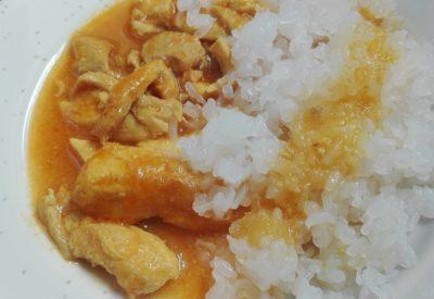 pollo al curry con arror konjac